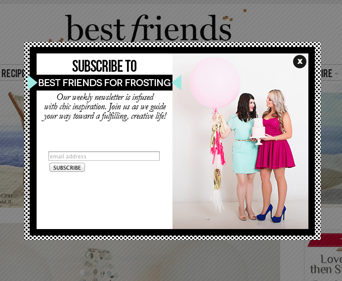 Best Friends For Frosting Subscribe Popover